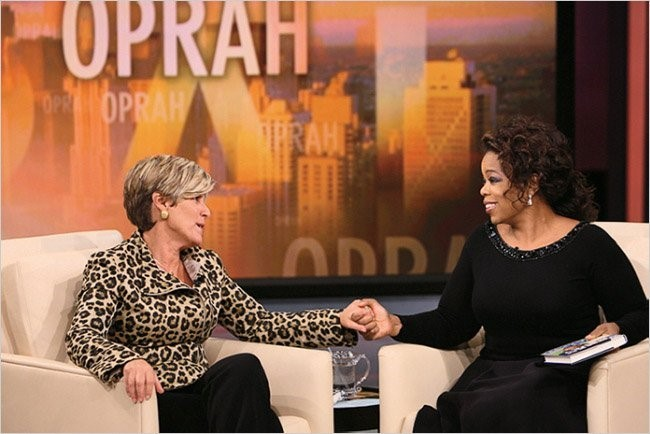 Suze Orman with Oprah