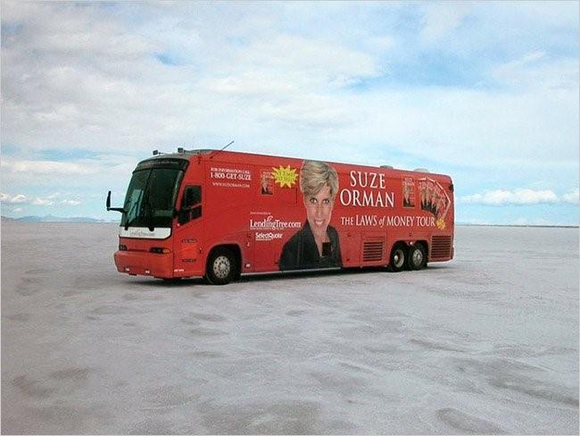 Suze Orman's Tour Bus